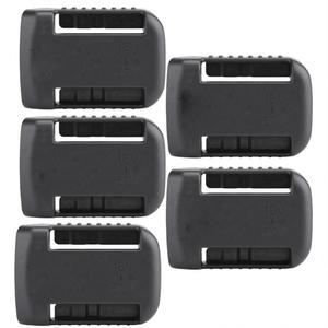 Image 1 - 5 шт. черные крепления батареи для De Walt XR 18V 60V Полка Для Хранения Подставка держатель Слоты вешалка для полок в мастерских