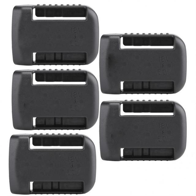 5 шт. черные крепления батареи для De Walt XR 18V 60V Полка Для Хранения Подставка держатель Слоты вешалка для полок в мастерских