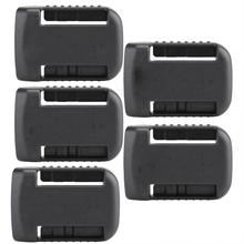 5pcs Black Battery Mounts For De Walt XR 18V 60V Storage Shelf Rack Stand Holder Slots Hanger For Shelves In Workshops