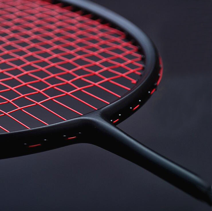 1 pc ZARSIA 4U 82g noir raquette De Badminton, attaque/Vitesse/Contrôle/de Raquette De Badminton de qualité carbone raquette
