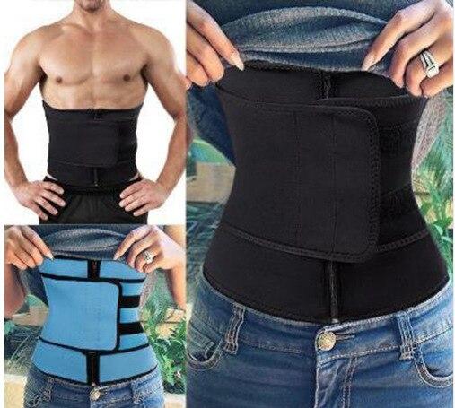 Shaping belt hook and loop zipper abdominal belt waist belt postpartum sports plastic belt sweat plastic belt I0708 1