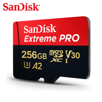 SanDisk Extreme PRO Micro SD Card 64GB TF Flash Card 128GB SDXC Memory Card 256GB U3 Class10 UHS I A2 V30 170MB/s For Samrtphone