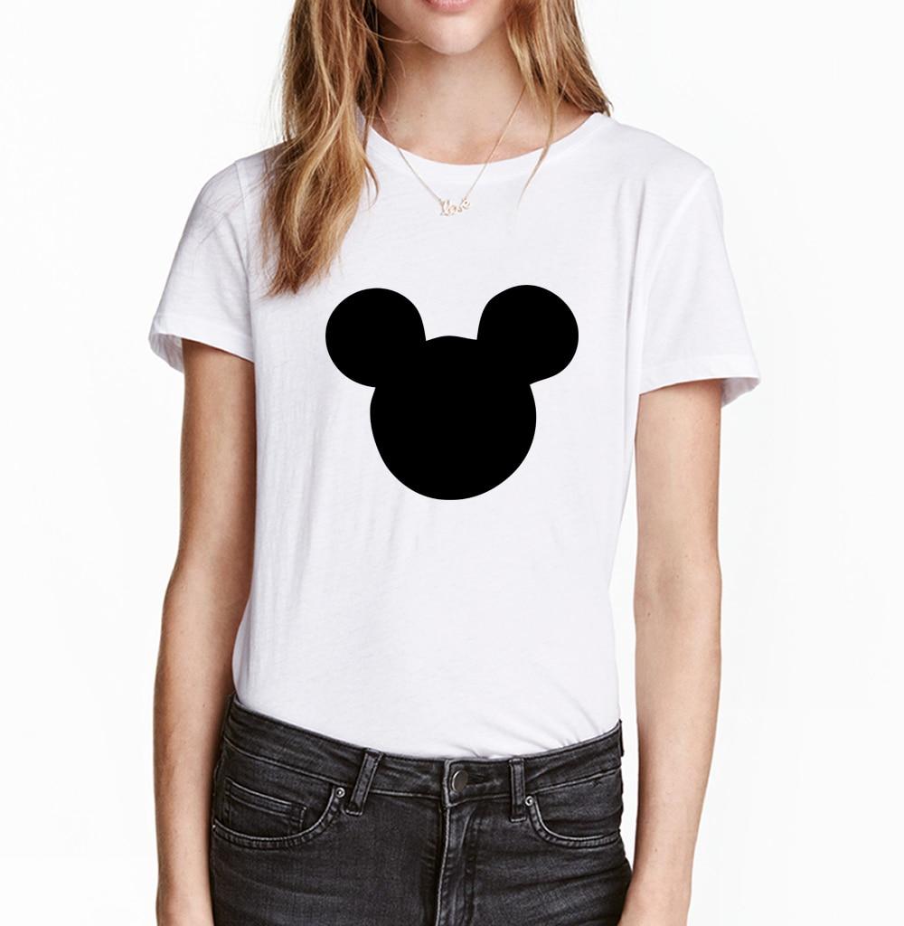 HTB1di tQVXXXXbRapXXq6xXFXXX0 - 2017 New Summer Mouse Head Printed Women T-Shirt