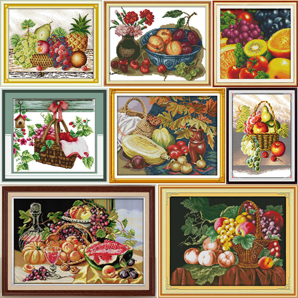 Gioia Domenica Frutto dell'amore Contati Punto Croce Kit Cross-stitch set Embroidery Needlework