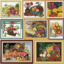 Joy sunday Fruit love Counted Cross Stitch Kits Cross-stitch set Embroidery Needlework
