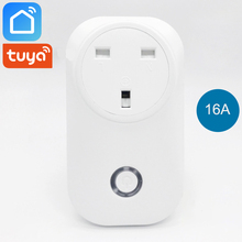 Tuya Smart Life Wifi Plug Socket UK 16A Power Monitor Energy Saver Compatible with Alexa Google Home Mini IFTTT