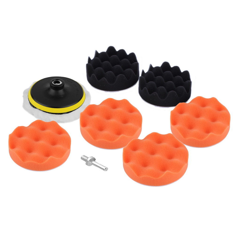 Tools 7pcs/set 3 Car Polishing Pad Polishing Buffer Waxing Buffing Pad Drill Set Kit Car Polishing Sponge Wheel Kit Polisher