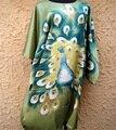 Atacado Varejo mulheres Silk Robe Vestido Printing Banho Roupa Vestido Kimono Kaftan Tamanho Venda Quente