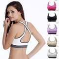 Hot Selling ! Multicolors ! Women Padded Top Athletic Vest Gym Fitness Sports Bra Stretch Cotton Seamless Free Shipping popular
