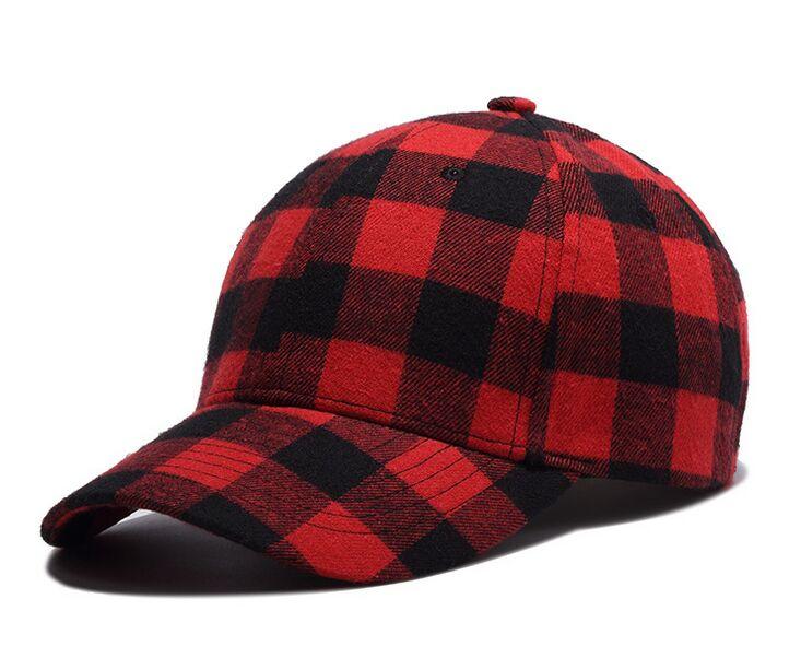 Black Red Plaid Men Women Flannel Hiphop Baseball Cap Hip Hop Dancer  Snapback Caps For Men Women Hats Gorra Casquette Snapbacks-in Baseball Caps  from ... 1d326642d27