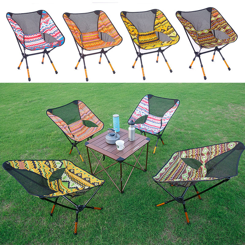 Image 3 - VILEAD 4 Colors  Adjustable Camping Chair Portable 7075 Aluminum Folding Ultralight Picnic Fishing Outdoor Beach bearing 150 kg-in Camping Chair from Sports & Entertainment