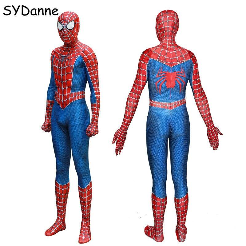 Kids Adult Spider Man Homecoming Cosplay Costumes SpiderMan Suit Superhero Bodysuit Jumpsuits Zentai For Men Boy Clothing