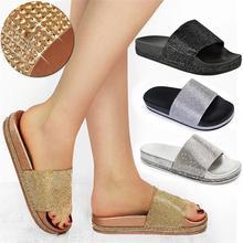 цены 2019 Fashion Summer Women Slippers Bohemia Gladiator Beach Flat Outdoor Slippers Ladies Female Footwear Women Shoes ADG41