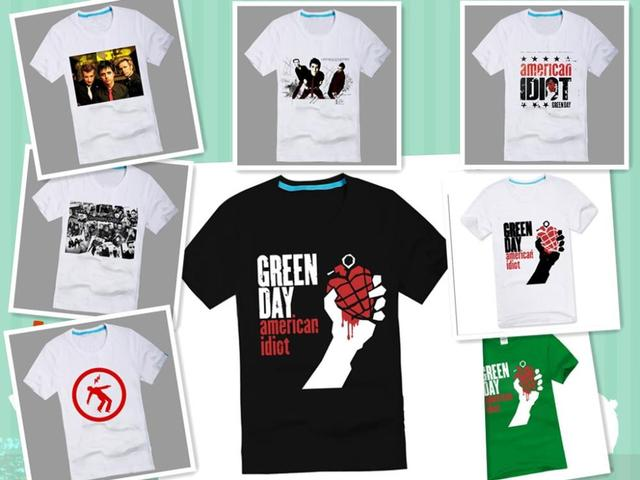 Green day ROCK t shirts Magic male casual 100% cotton short-sleeve T-shirt XS-XXXL $13.5 Free shipping