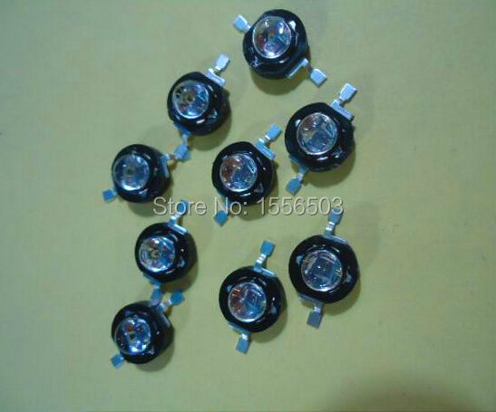3 Pcs/lot 3W Infrared IR 850nm High Power LED Bead Emitter DC1.8-2.2V CCTV Camera IR Diode for Security Black LEDs