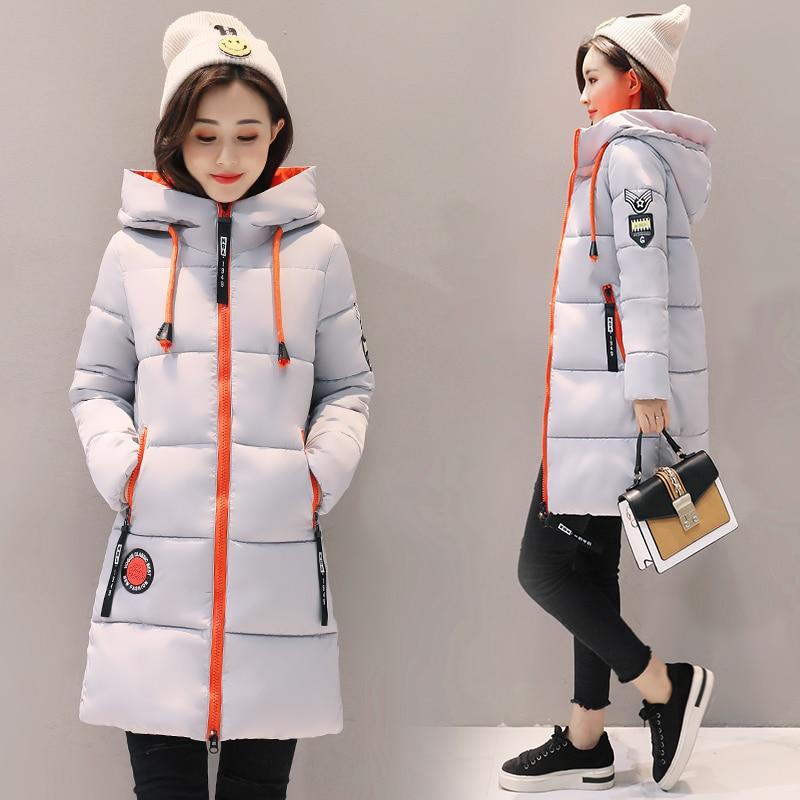 Parka Women 2019 Winter Jacket Women Coat Hooded Outwear Female Parka Thick Cotton Padded Lining Winter Female Basic Coats Z30