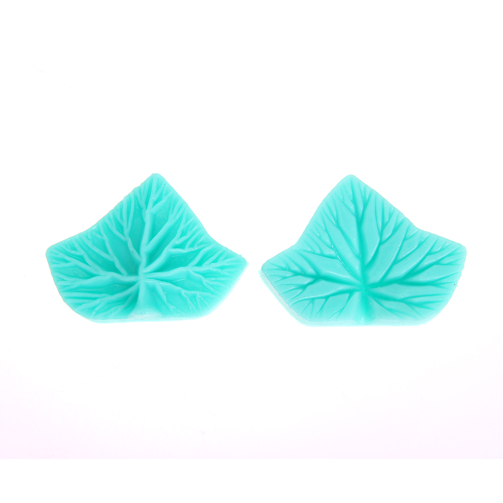 2pcs S176 Maple Leaf Mold Silicone Molding Decor Cake Chocolate Mold Sugar Embossed Mould Cake Tools Green