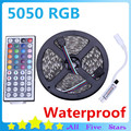 IP65 Waterproof RGB LED Strip 5050 300Leds/5M SMD5050 with 44key Remote Mini Controller Decoration Led Light Lamps Free Shipping