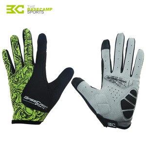 Горячие Basecamp велосипедные перчатки с сенсорным экраном гелевые велосипедные спортивные противоударные перчатки для мужчин и женщин MTB дор...