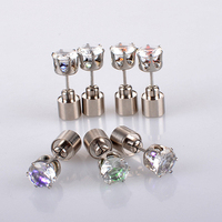 1 Pair/Set Charm LED Earring Light Up Crown Glow Fashion Crystal Rhinestone Jewelry Women Elegant Silver Plated Hook Earring золотые серьги по уху