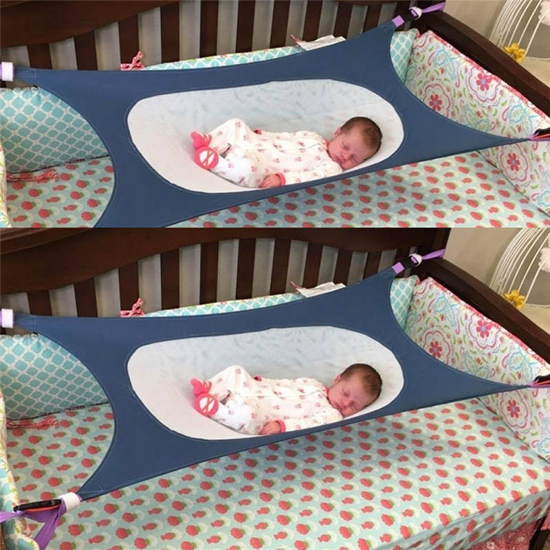 Infant Safety Baby Hammock Printed Newborn Children's Detachable Furniture Portable Bed Indoor Outdoor Hanging Seat Garden Swing 2 people portable parachute hammock outdoor survival camping hammocks garden leisure travel double hanging swing 2 6m 1 4m 3m 2m