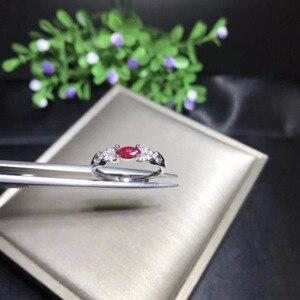 Image 2 - Bague en rubis naturel en argent sterling 925, style simple et exquis, prix bon marché, recommandé par le propriétaire, couleur authentique
