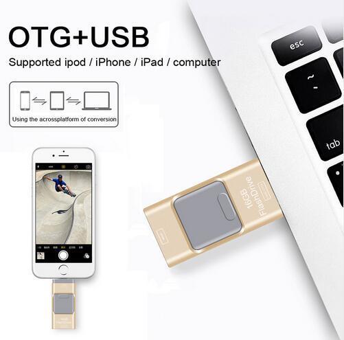 New i-Flash pen Driver HD U-disk Lightning data for iPhone/iPad/iPod,micro usb interface flash drive for PC/MAC 8/16/32/64GB OTG