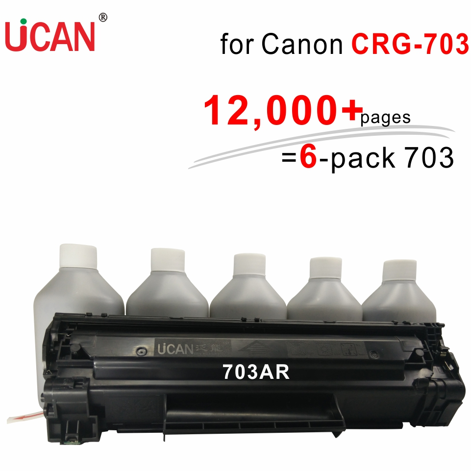 for Canon LBP2900 LBP-2900 LBP2900B LBP 3000 Printer CRG 703 303 103 UCAN 12,000+ pages Continuous Supply Toner Cartridges kit for canon d570 printer cartridge 737 337 137 ucan 737ar kit 12 000 pages
