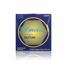 Amola Acoustic Wound Guitar Strings set 010 011 012 PHOSPHOR BRONZE Coted Copper Alloy Guitar Accessories 6pcs/set