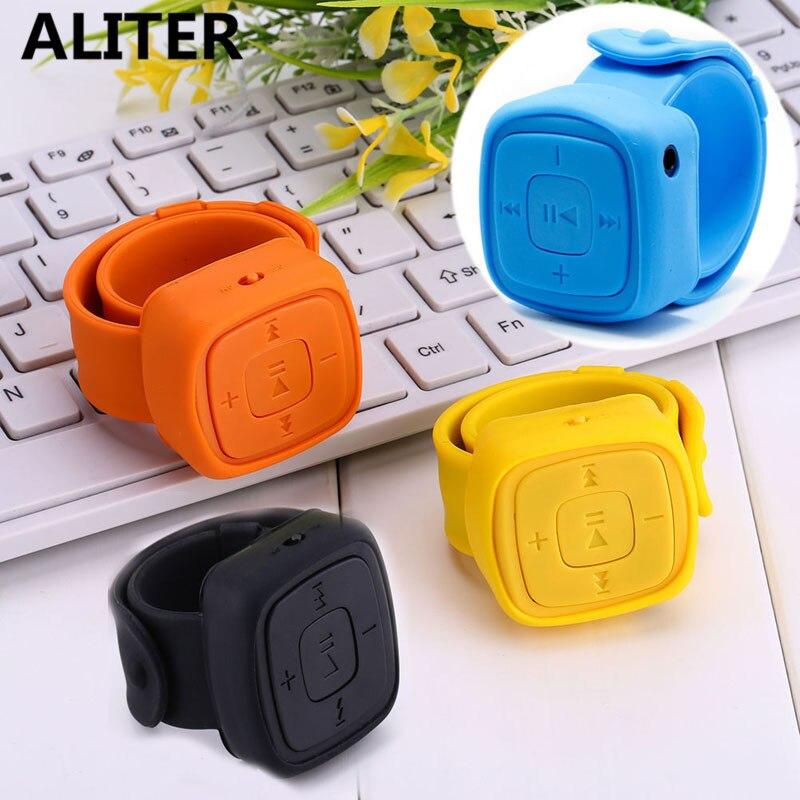 Wrist Design USB MP3 Player Black Sport Run Music Player With Earphone gai