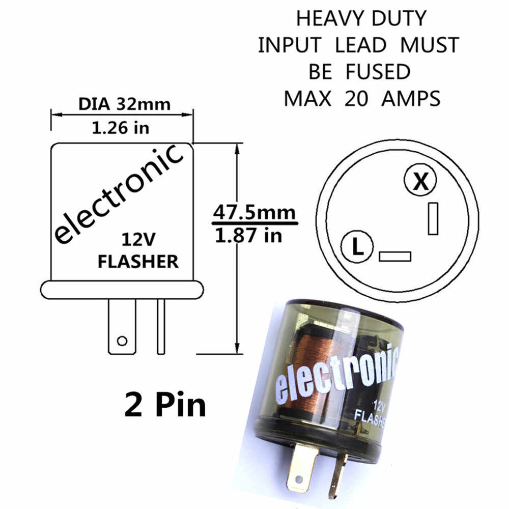 Armsky 2pin 12v Relay Chrome Electronic Led Turn Signal Flasher Relay Motorcycle Flasher Relay Compatible Handles Up To 20 Amps Signal Flasher Relay Turn Signal Flasher Relayflasher Relay Aliexpress