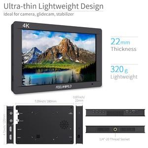 "Image 2 - Feelworld FW703 7 인치 3G SDI 4K HDMI 모니터 7 ""IPS 1920x1200 히스토그램 피어싱 포커스 얼룩말이 장착 된 풀 HD 카메라 필드 모니터"