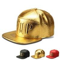Luxus PU Crocodile Hip Hop Hut Diamant Korn Unisex Hysterese kappe Gold Logo Baseball Cap Männer Frauen Sport Casquette Kappe muster