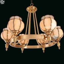 Все медные лампы Джейн Европейском стиле ретро лампа гостиной лампа спальня лампа ресторан огни Люстры Rmy-0543