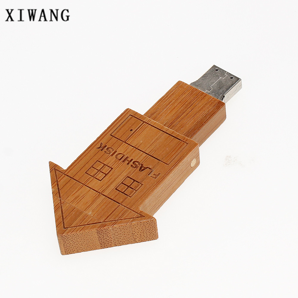 Image 4 - Usb flash drive 2.0 wooden room 4G 8GB pen drive 16G Pendrive 32G 64GB USB memory stick 128gb Bamboo special gift free shipping-in USB Flash Drives from Computer & Office