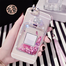 Case For Samsung J3 J5 J7  Pro J4 J6 Bling Liquid sand bottle Phone case