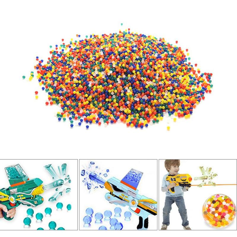 10000 PCS Colored Water Marbles Soft Crystal Water Paintball Bullet For Water Gun Grow Water Beads Balls Toy Accessories Gadgets