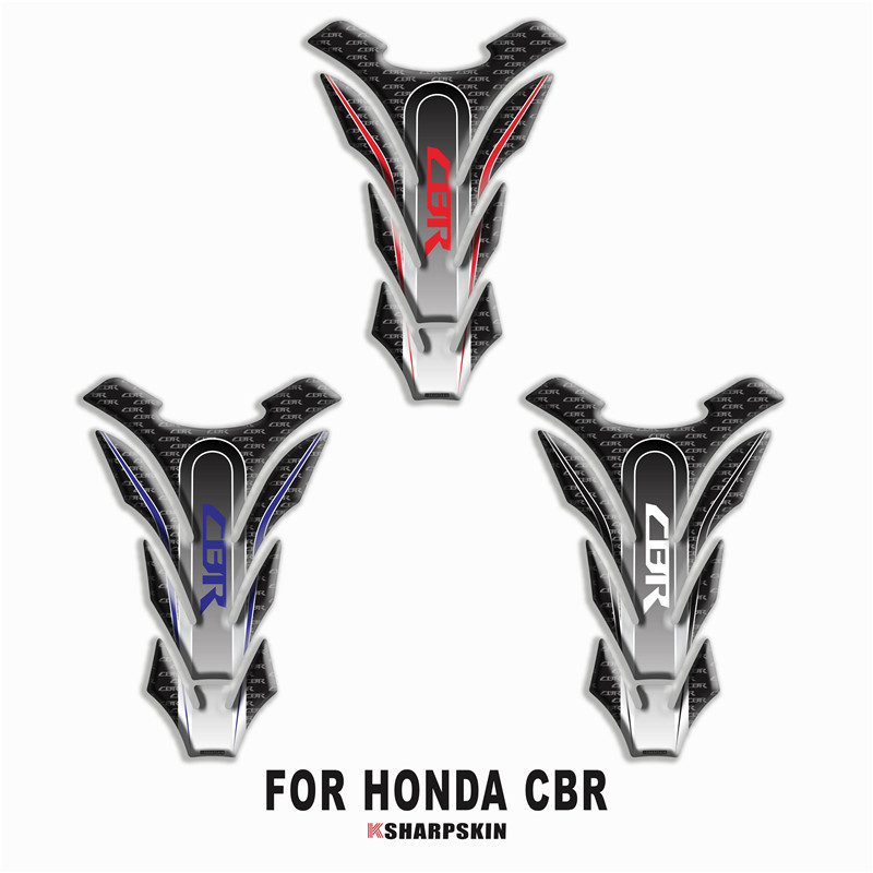 3D Carbon-look Motorcycle <font><b>Tank</b></font> <font><b>Pad</b></font> Protector Decal Stickers Case for <font><b>Honda</b></font> <font><b>CBR</b></font> 250RR 600RR 900RR 1000RR <font><b>650F</b></font> 500R Fireblade image