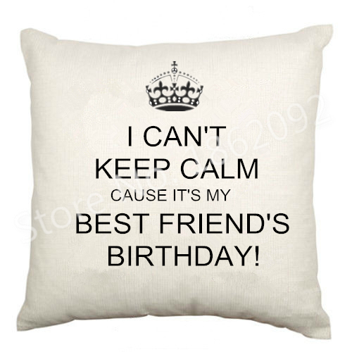 Funny Bestie Birthday Gifts I Cant Keep Calm Cause Best Friends Throw Pillow