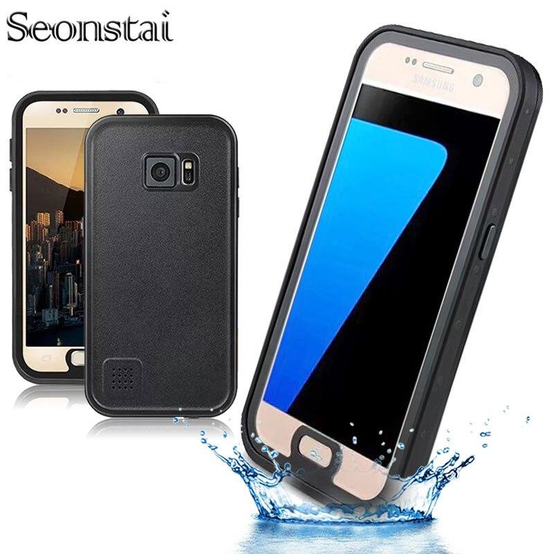 Цена за Для galaxy S7 Водонепроницаемый Case Оригинал Жизнь Вода Грязь Доказательство Удара 6.6 Футов Под Водой 2 m Для Samsung Galaxy S7 G930 Телефон Case