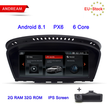 "Andream 8.8"" Android 8.1 PX6 6 Core IPS Screen Car Multimedia Player For BMW Series 5 E60 E61 E62 GPS Navigation Wifi Auto Radio(China)"