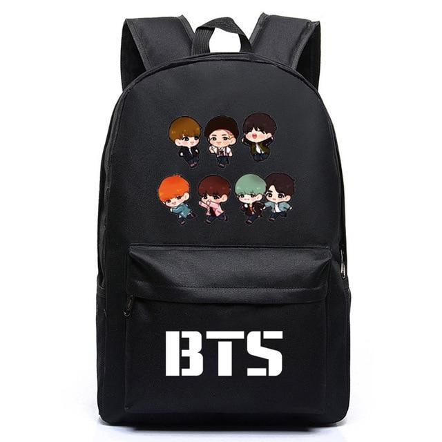 2018 Kpop BTS Bangtan Boys New Logo Door ARMY Letter Backpack Student Schoolbag Shoulder Bag Fans  sc 1 st  AliExpress.com & 2018 Kpop BTS Bangtan Boys New Logo Door ARMY Letter Backpack ...