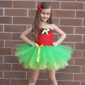 Batman&Robin Children Girl Tutu Dress Super Hero Girl Halloween Costume Kids Summer Tutu Dress Party Photography Girl Clothing