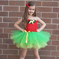 Batman y Robin Niños Tutú de la Muchacha Vestido de Superhéroe Chica Del Traje de Halloween Kids Summer Dress Tutu Partido Photography Ropa de La Muchacha