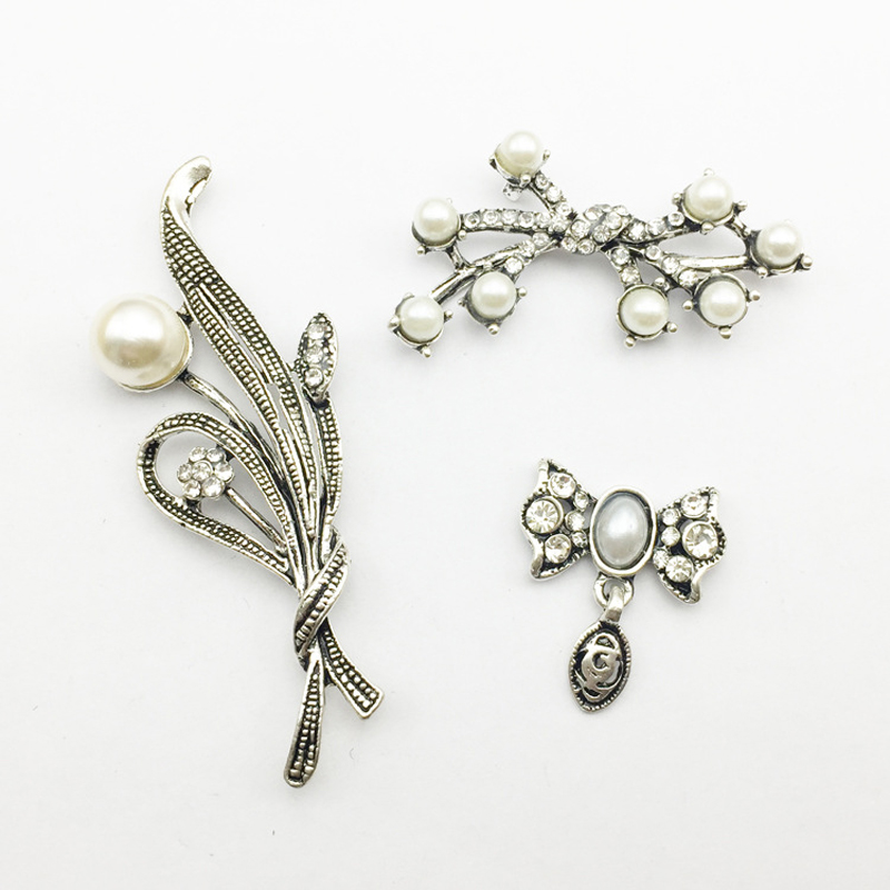 6 Crystal Pearl Photo Picture Frame Diamond Bowknot: 50pcs Bowknot Grass Pearl Crystal Strass Jewelry