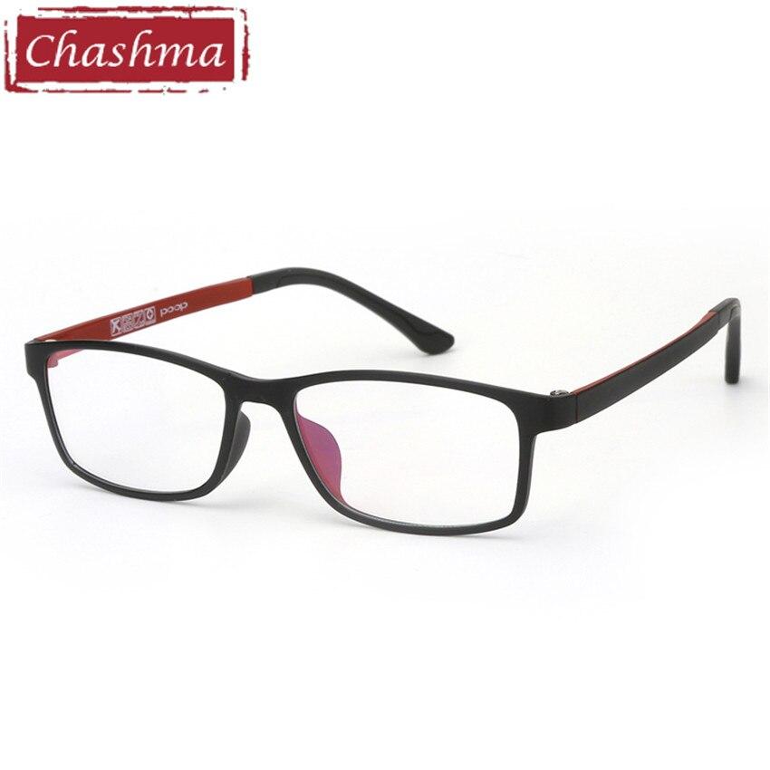 Chashma Brand Women Red Frame Clear Lenses Multifocal Optical Reading Glasses Ready Progressive