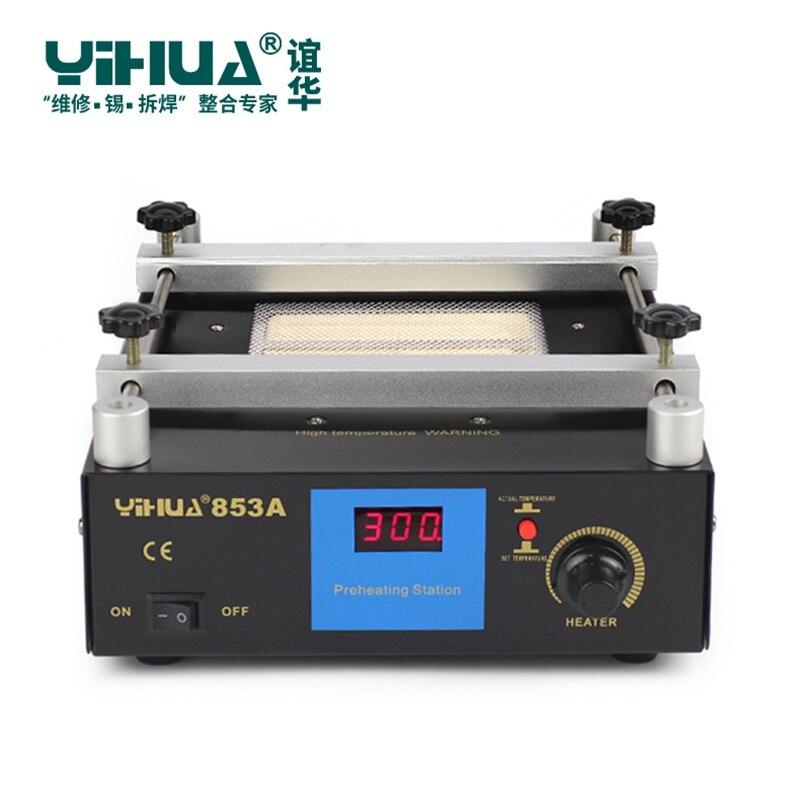 YIHUA 853A 220V 50HZ Digital Preheat Soldering Station High Power ESD BGA Rework Station PCB Desoldering IR Preheating цена 2017
