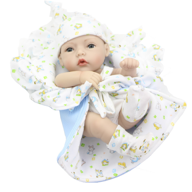 Green Eyes 11 Inch Boy Baby Doll Reborn Lifelike Newborn Babies Handmade Realistic Dolls With Lovely Clothes Kids Birthday Gift short curl hair lifelike reborn toddler dolls with 20inch baby doll clothes hot welcome lifelike baby dolls for children as gift