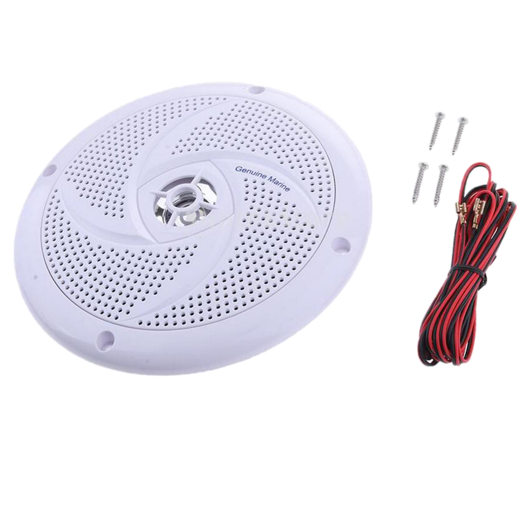 1 Pcs 6.5 Inch Waterproof 60W 90dB Full Range Marine/RV/Car Ceiling Wall Speakers Garden Water Resistant Install Speaker