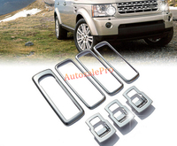 Chrome Matt Door armrest + Window Lift Button Cover trim 7pcs For Land Rover LR4 Discovery 4 10 15